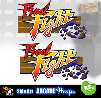 Final Fight Arcade Side Artwork Panel Stickers Graphics  / Laminated All Sizes