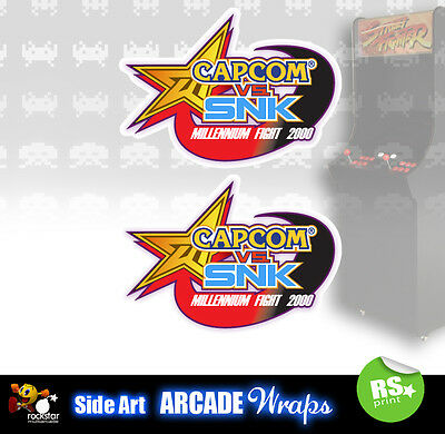 Capcom vs snk Arcade Side Artwork Panel Stickers Graphics / Laminated All Sizes