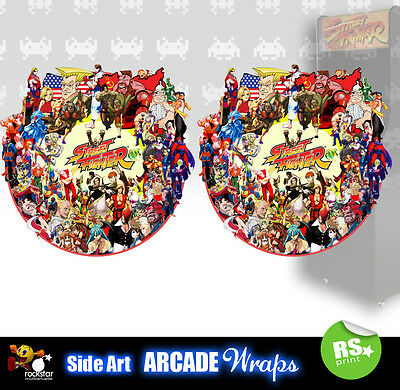 Street Fighter Arcade Side Artwork Panel Stickers Graphics  Laminated All Sizes