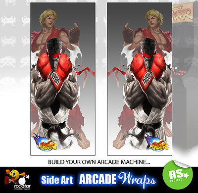 Streetfighter Arcade Side Artwork Panel Stickers Graphics / Laminated All Sizes