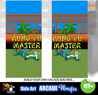 Kung Fu Master Arcade Side Artwork Panel Stickers Graphics /Laminated All Sizes