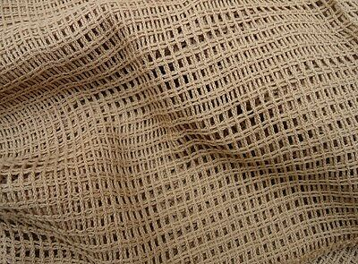 Tactical Camouflage Netting Face/Sniper Veil Scrim Scarf Cotton Mesh 42x42 Brown
