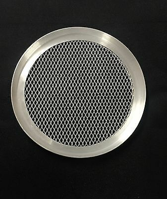 "Aluminium Mesh Pizza Pan Baking Tray Half 1/2"" Deep (7"" to 16"" inch available)"