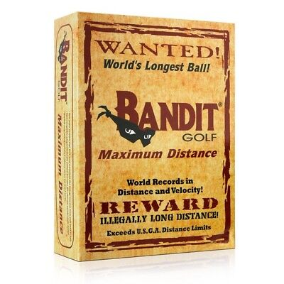 Bandit Non Conforming Illegal Maximum Distance Golf Balls 1 Dozen 12 Balls -NEW-