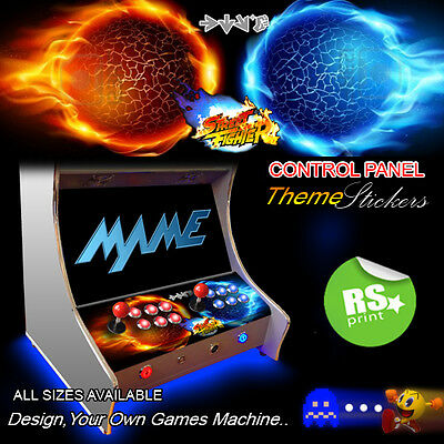 Arcade Control Panel Stickers Graphics / Laminated All Sizes Designs Tron + More