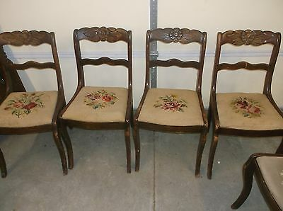 6 Tell City Chair Roseback Chairs Need Refinished