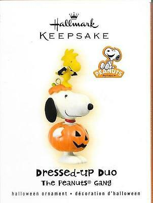 MIB 2009 Hallmark Keepsake Ornament DRESSED-UP DUO Snoopy Woodstock Halloween