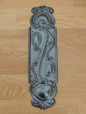 Set Of 10 Bronze Finish Art Nouveau Finger Door Push Plates Fingerplate