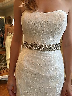 FERN Wide Pearl Marquise Rhinestone Crystal Diamante Bridal Sash Any Colour