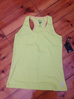 Womens Leluu Core Tank Colour-Citron size 14 Brand New with Tags