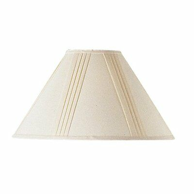 Cal Lighting SH-1003-OW Side Pleated Linen Lamp Shade