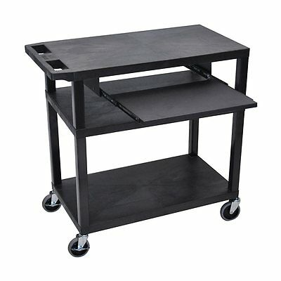 Luxor EA34L-B EA-Series Presentation Station with Pullout Shelf