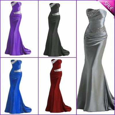 New Long Evening Formal Party Ball Gown Prom Bridesmaid Dress 6 -16