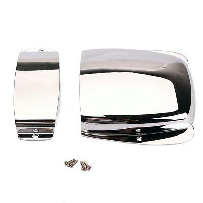 Chrome Plated Pickup & Bridge Plate Cover for Jazz Bass Electric Bass Guitar
