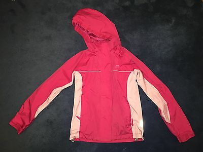 GIRLS KIDS SIZE 9 / 10 - BRAND: Trespass - ALL WEATHER JACKET Waterproof Youth