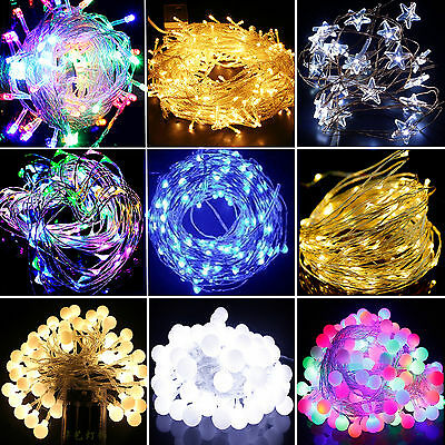 LED Battery Operated Christmas Lights Fairy Lights String Wedding Outdoor Decor