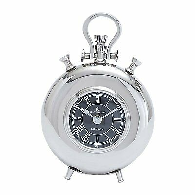 Woodland Imports 27857 Nickel Plated Table Clock