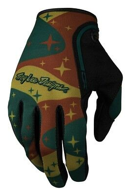 Troy Lee Designs 2016 XC Gloves (Pair) Cosmic Camo Army Green Adult Size SM-2XL