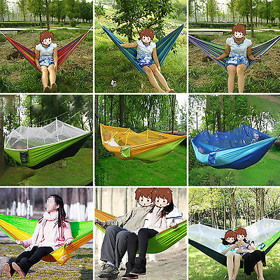 Hammock Mosquito Net Outdoor Camping High Strength Parachute Fabric 1/2 Person