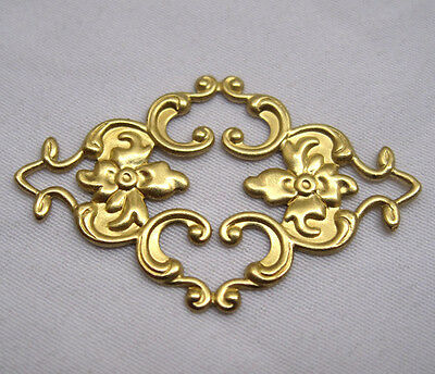 Stamping Filigree Findings Brass Craft Jewelry Headware bf104(10pcs)