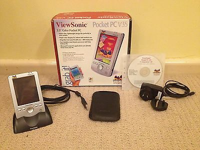 ViewSonic Pocket PC V35 PDA, 100% working, complete, original packaging