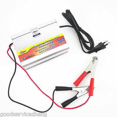 12V 10A Car Battery Charger Motorcycle Battery Charger Lead Acid Charger 220V IN