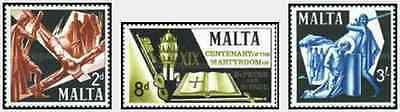 Timbres Religion Malte 355/7 ** lot 14043