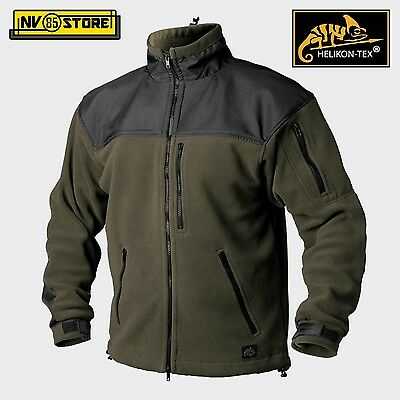 Felpa HELIKON-TEX CAF Tactical Fleece Pile Caccia Softair Militare Outdoor OD-BK