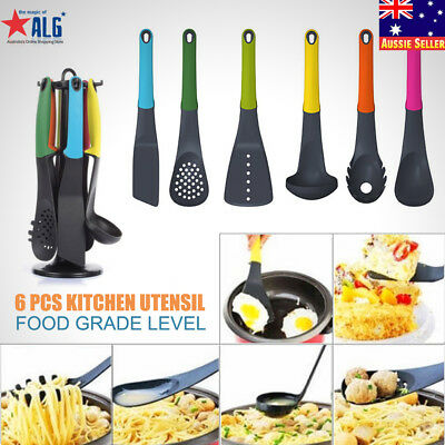6pcs Silicone Kitchen Utensils Set Heat Resistant Silicone Cooking Tools Cookwar