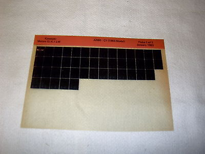 Kawasaki Ar80 Ar 80 C1 (1983 Model) Gen Part Catalogue Microfiche