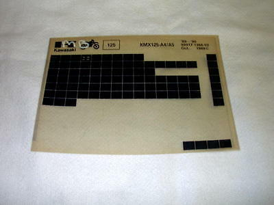 Kawasaki Kmx125 Kmx 125 A4/a5 Gen Part Catalogue Microfiche