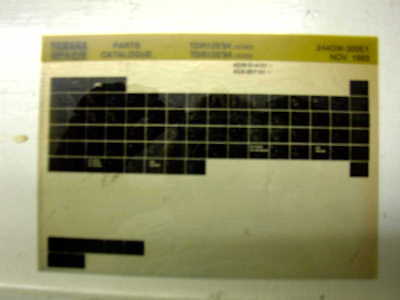 Yamaha Tdr125 Tdr 125 94 Gen Part Catalogue Microfiche
