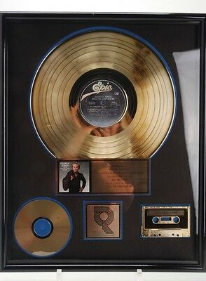 """George Jones Gold Record """"Still The Same Ole Me"""" Framed With Cd & Casette"""