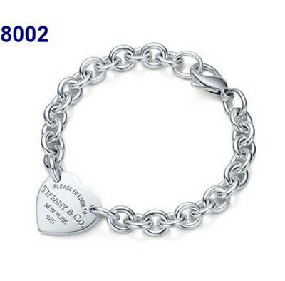 "Love Bracelet Jwelery Heart Women Femme charm ""Please Return to"" New"