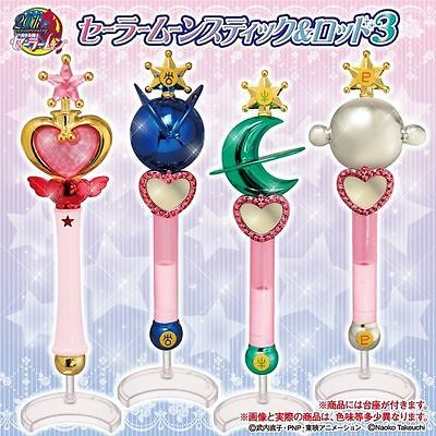 Bandai Sailor Moon Wands Gashapon Vol 3 Stick Rod Transformation Wands set of 4