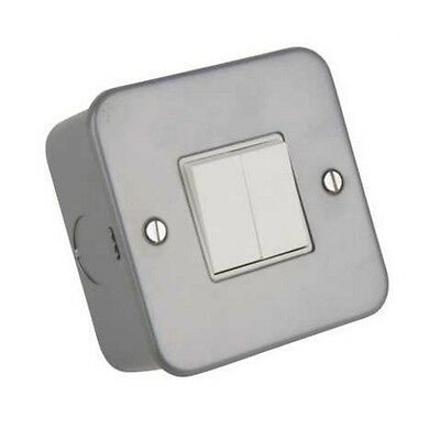 Metal Clad 1 Gang 2 Way Light SwitchClick CL011  Industrial Switch