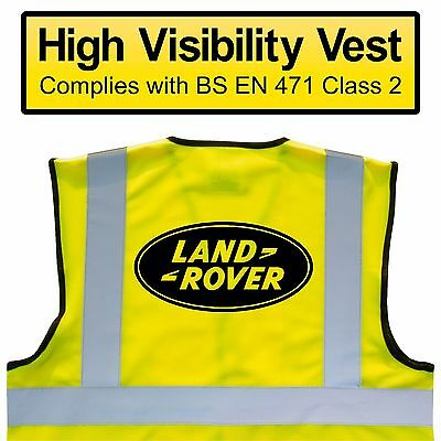 LAND ROVER BREAKDOWN High Visibility Hi Viz HV Vest Yellow - VARIOUS Sizes