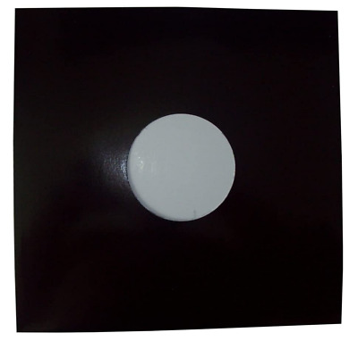 """50 12"""" Black Card Record Sleeves Covers / Disco Bags *new+Free Uk P&p*"""