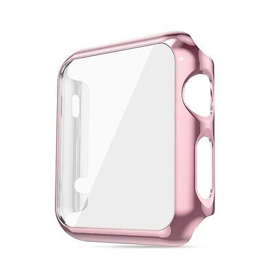ROSE GOLD Case Cover Screen Protector Case Bumper For iWatch 38MM APPLE WATCH 1