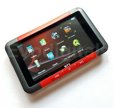 "New Evo Red 8Gb Mp3 Mp5 & Mp4 Player - Direct Play 3"" Screen Video Music + More"