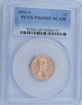 2003 S Proof Lincoln Memorial Cent - PCGS PR 69 RD DCAM Red Deep Cameo