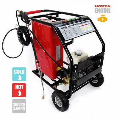 powered by honda portable lpg gas Instant hot cold pressure washer 3000 psi