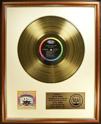 The Beatles Complete Lot Of 20 LP Gold Non RIAA Record Awards To Record Company