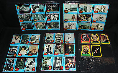 Star Wars Topps Series 1-4 Complete Set w Stickers & C-39O Error - EXMT-NM 1977
