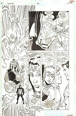 Superman #95 p.19 Superman, Orion, Lightray, Highfather, Atom 1994 Dan Jurgens