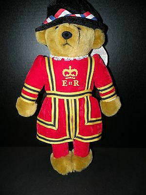 "New 18"" MERRYTHOUGHT Queen Elizabeth Royal Guard Beefeater Bear Made in England"