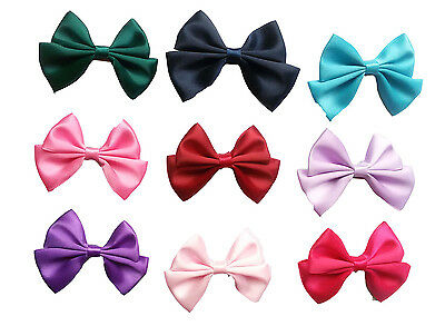 100pcs Butterfly Cute Ribbon Baby Girls Pet Dog Cat Hair Bows Clips Accessories