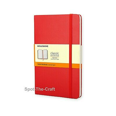 Moleskine Notebook Red Large Ruled Hard Cover