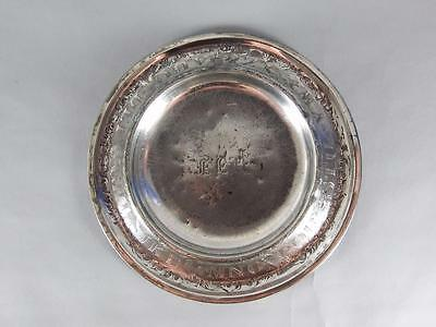 Antique Silver Plated Childs Alphabet Plate / Bowl