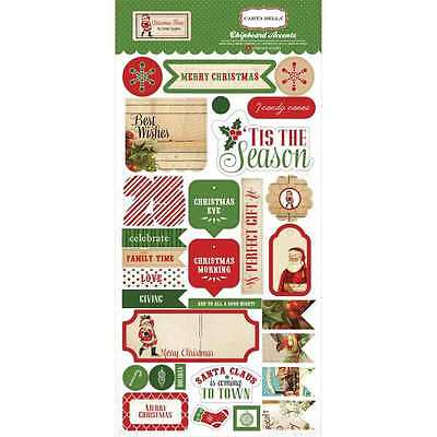 New Carta Bella Christmas Time Chipboard Accents